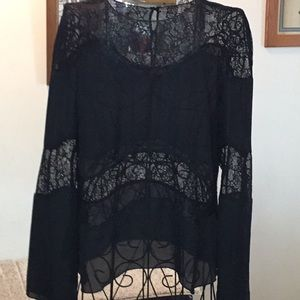 Zara black blouse small clean and pretty